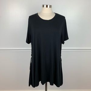 Torrid | back tunic with lace up sides